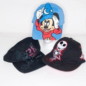 Disneyland Bundle of 3 Hats (2 Kids 1 Adult)